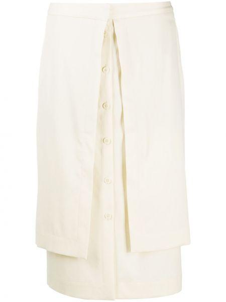 Bawełna biały wełniany spódnica midi Lemaire