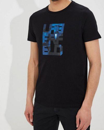 Черная футболка Lagerfeld