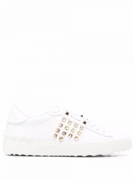 Białe złote sneakersy Valentino Garavani