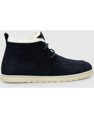 Замшевые ботинки - синие Loro Piana