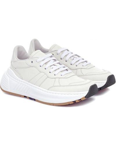 Кожаные кроссовки белый Bottega Veneta
