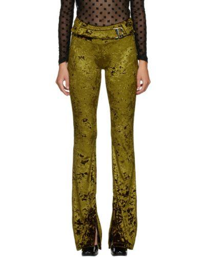 Spodni zielony spodnie z paskiem z mankietami Misbhv