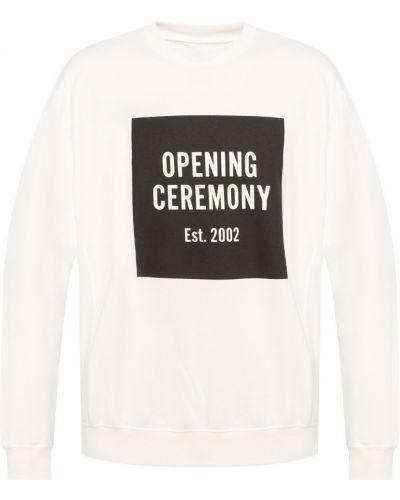 Biała bluza dresowa Opening Ceremony
