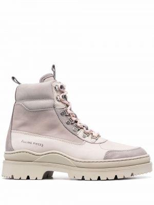 Кожаные ботинки - серые Filling Pieces