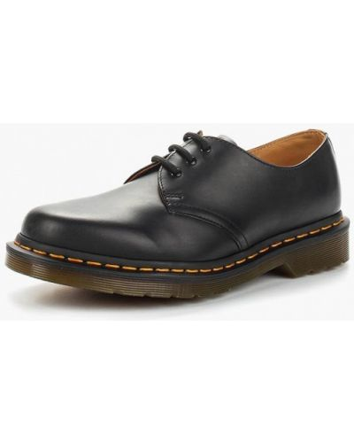 Кожаные ботинки на каблуке низкие Dr Martens