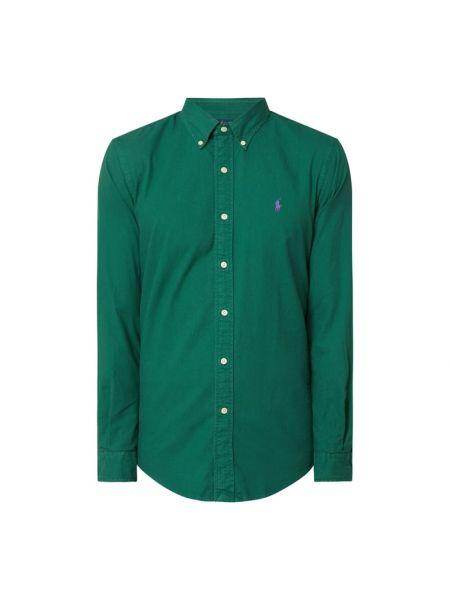 Bawełna puchaty zielony koszula z mankietami Polo Ralph Lauren