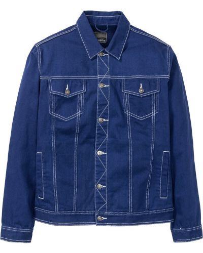 Джинсовая куртка темно-синяя синяя Bonprix