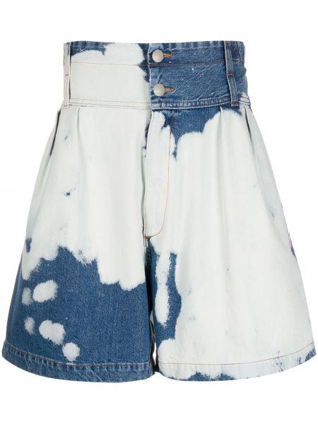 Niebieskie szorty jeansowe bawełniane Gcds