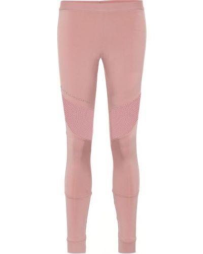 Леггинсы розовый сетчатые Adidas By Stella Mccartney