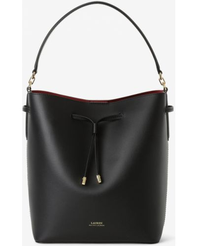 Czarna torebka skórzana Lauren Ralph Lauren