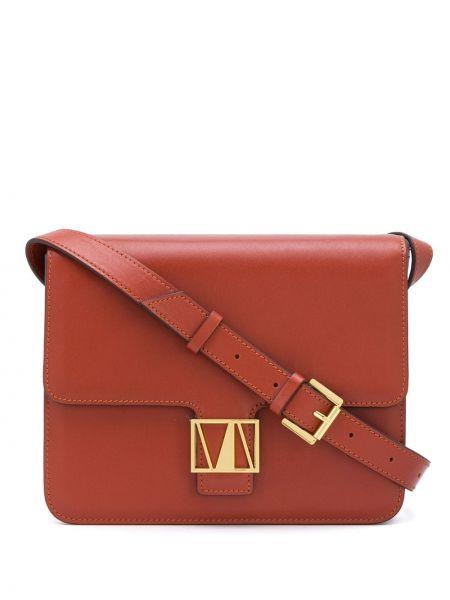 Плиссированная красная сумка через плечо на молнии с карманами Manu Atelier
