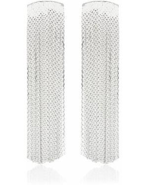 Серебряные серьги-гвоздики с кисточками Anissa Kermiche