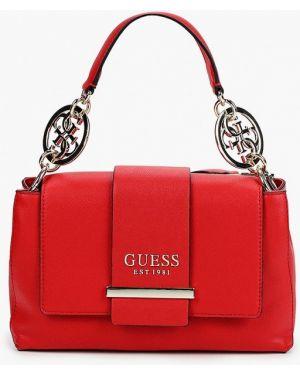 Кожаная сумка через плечо весенний Guess