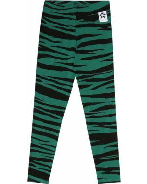 Zielone legginsy z printem Mini Rodini