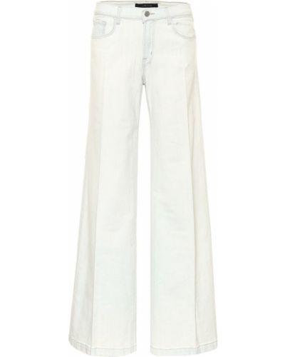 Ватные хлопковые синие широкие джинсы свободного кроя J Brand