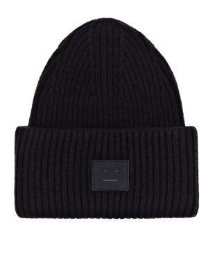 Шерстяная шапка бини - черная Acne Studios