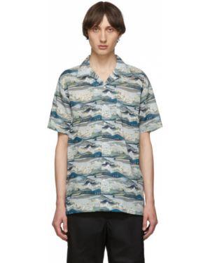 Koszula krótkie z krótkim rękawem z kołnierzem z wzorem Onia