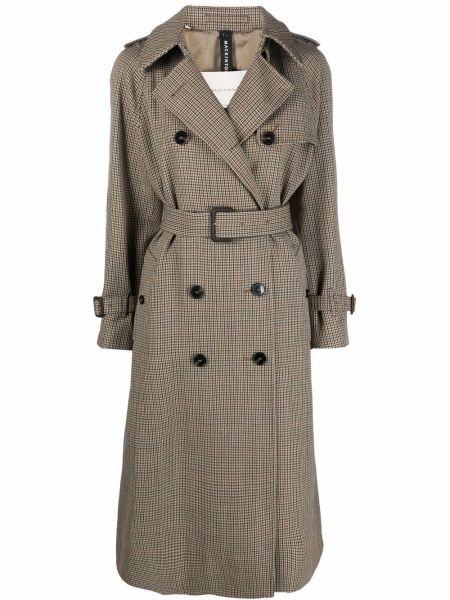 Коричневое пальто с карманами Mackintosh