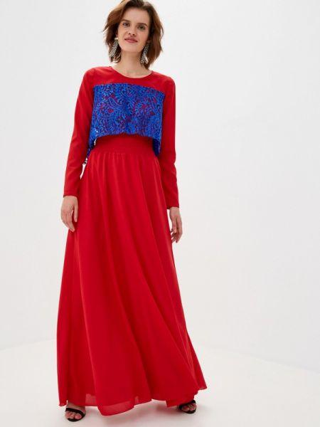 Вечернее красное вечернее платье Sahera Rahmani