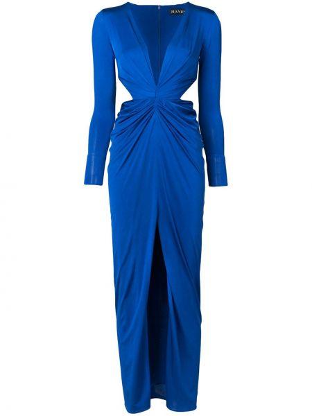 Синее платье в рубчик Haney