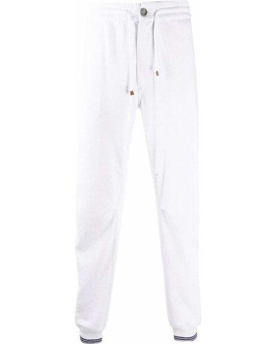 Biały dres bawełniany z haftem Brunello Cucinelli