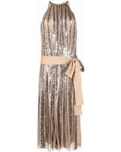 Шелковое платье миди Elie Saab