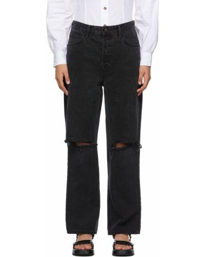 Czarne jeansy z paskiem Grlfrnd
