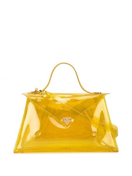 Желтая сумка-тоут круглая Tyler Ellis