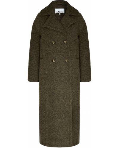 Пальто зеленое пальто-халат Ganni