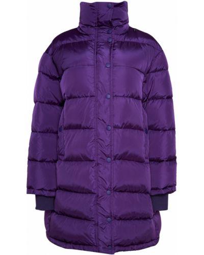 Фиолетовый пуховик с воротником-стойкой Balenciaga