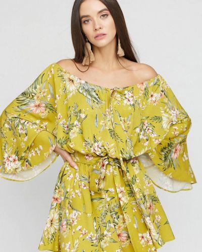 Пляжное зеленое платье Cardo