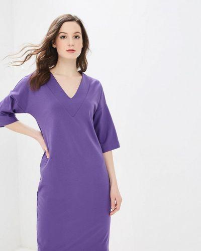 Платье осеннее фиолетовый Elena Kulikova