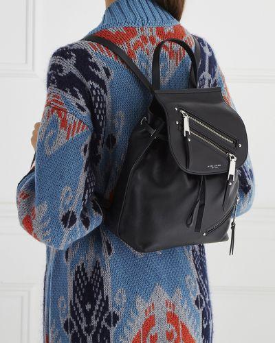 Кожаный рюкзак на молнии черный The Marc Jacobs