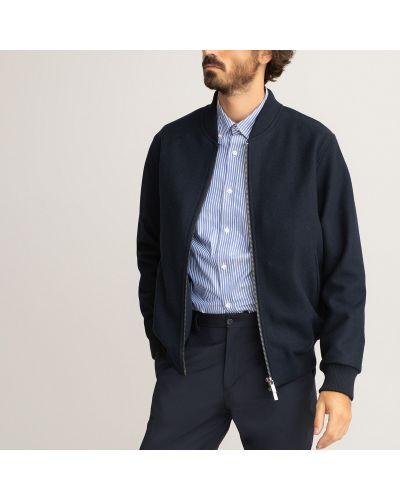 Кожаная куртка на молнии - синяя Laredoute