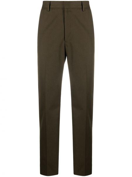 Zielone spodnie bawełniane z paskiem Acne Studios