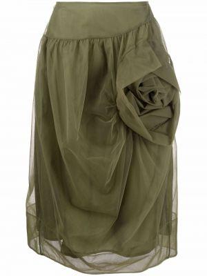Юбка из фатина - зеленая Simone Rocha