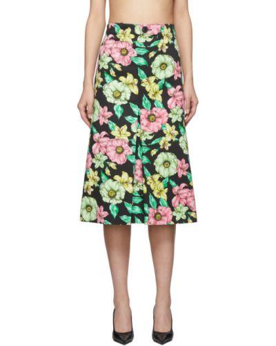Джинсовая юбка с цветочным принтом пачка Balenciaga
