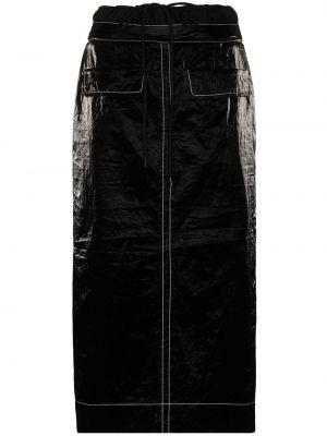Bawełna bawełna czarny spódnica midi Rejina Pyo