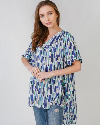 Свободная блузка свободного кроя с V-образным вырезом Zizzi