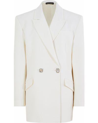 Шерстяной пиджак - белый David Koma