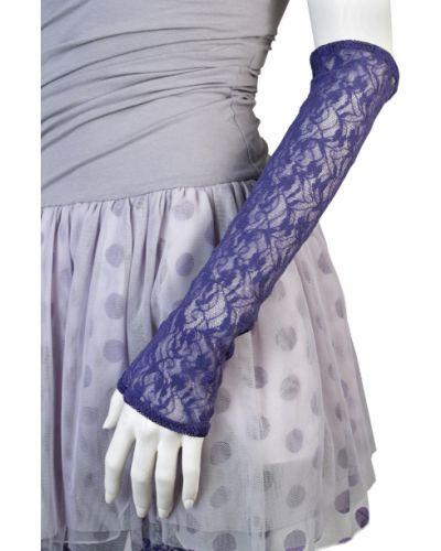 Фиолетовые перчатки весенние Patrizia Pepe
