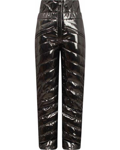 Нейлоновые серые утепленные брюки Naumi