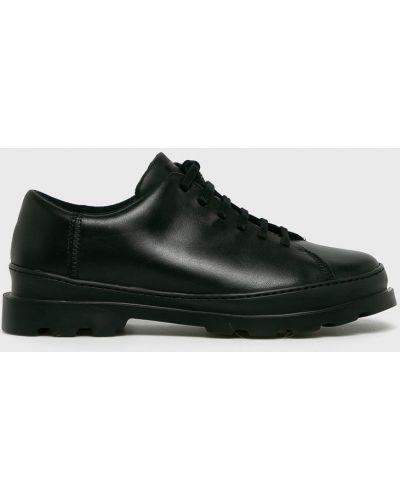 Туфли на шнуровке текстильные черные Camper