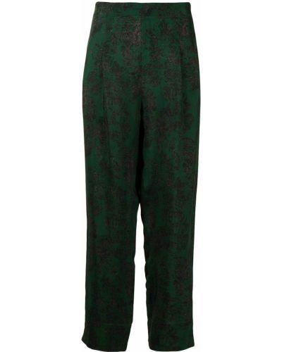 Зеленые укороченные брюки Toga Pulla