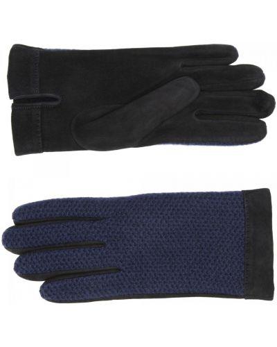 Синие кожаные перчатки Merola Gloves