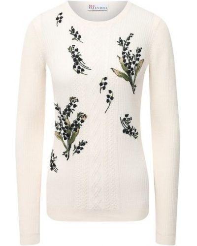 Трикотажный бежевый пуловер Redvalentino