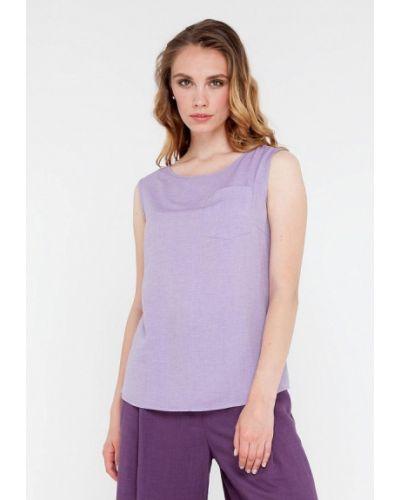 Фиолетовая блузка без рукавов Gregory