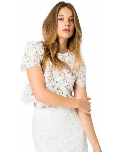 Biała koszulka koronkowa Ivy & Oak