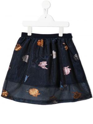 Niebieska spódnica tiulowa Hucklebones London