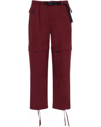 Хлопковые брюки с карманами с манжетами Nike Acg